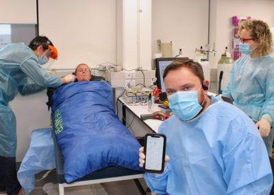 Remote temperature monitoring to reduce the spread of COVID-19