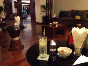 Gin and tonic at Lotus Blanc