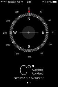 The compass provides longitude and latitude