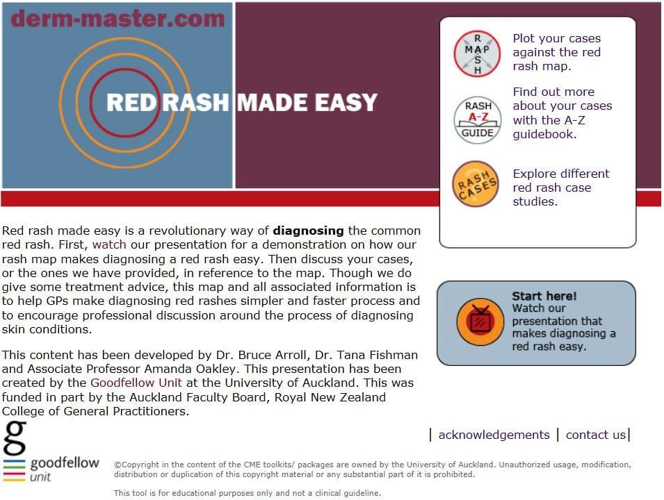 Red Rash Made Easy