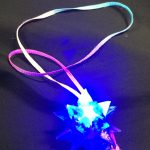 Flashing jelly star necklace