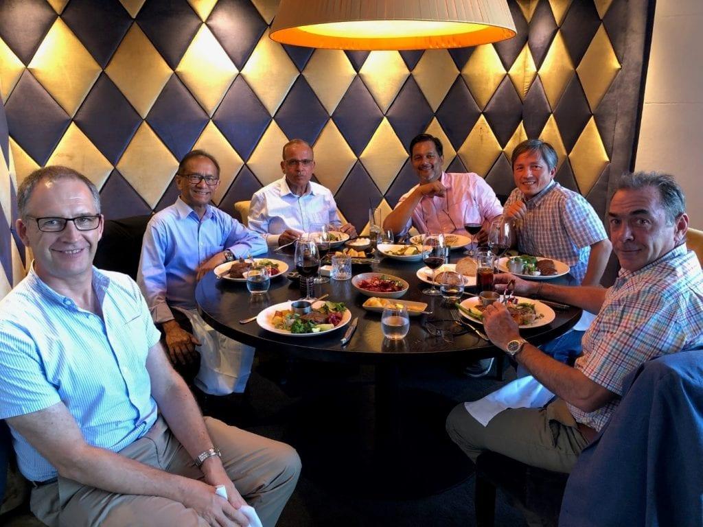 From left: Chemmat's Prof Brent Young, Prof Naz Karim, Chemmat's Prof Mohammed Farid, Assoc Profs Ashvin Thambyah, Peng Cao, Mark Jones