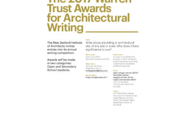 2017 Warren Trust Awards for Architectural Writing