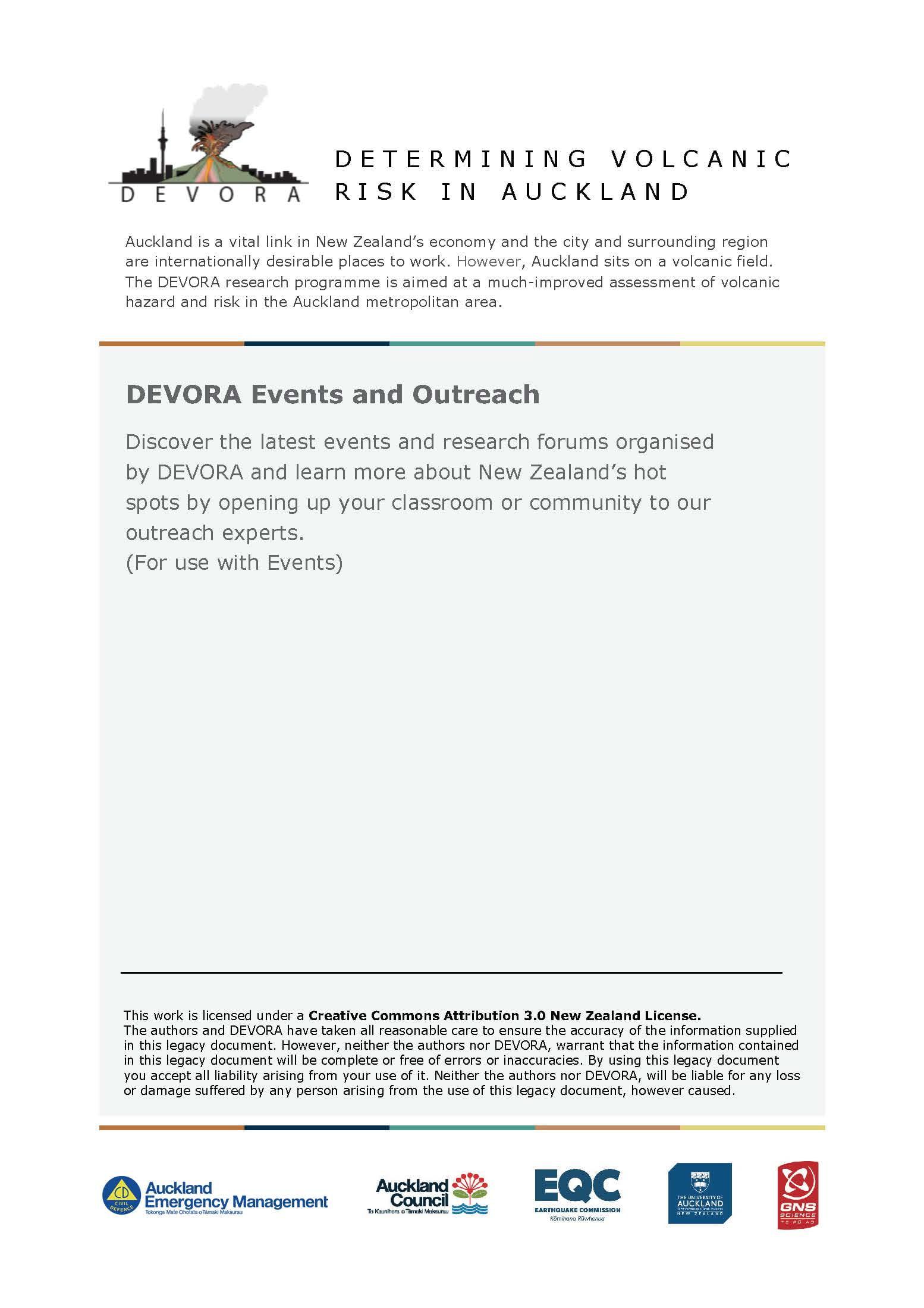 DEVORA Events and Outreach Cover