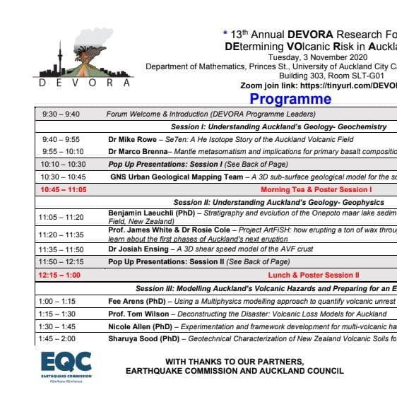 13th Annual DEVORA Forum Programme Cover