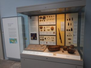 Figure 2: The objects on display from the Fayum and Nabta Playa