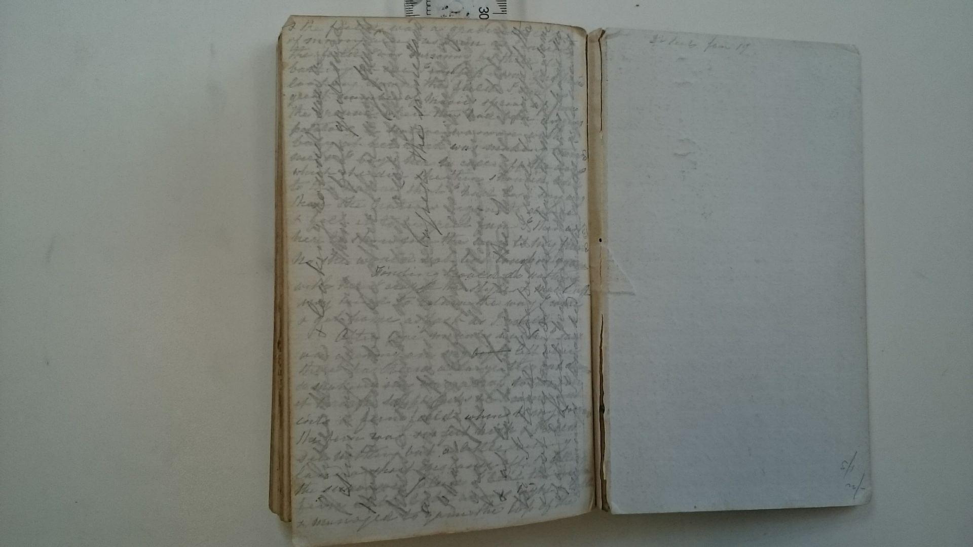 Crosswritten page written by Sarah Harris