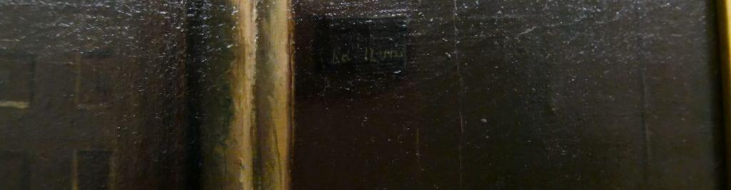 Edwins signature, tiny amidst black