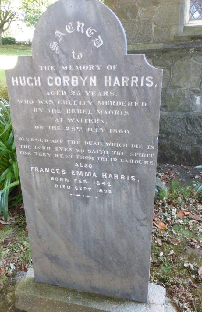 Headstone of Hugh Corbyn Harris