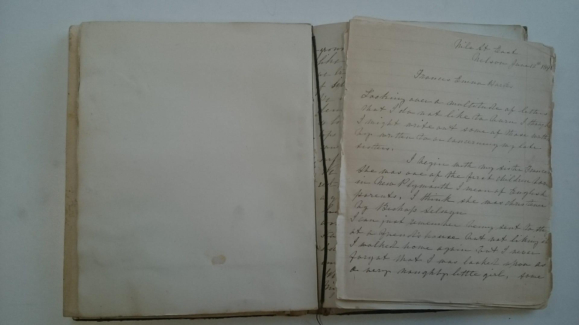 loose pages in sketchbook