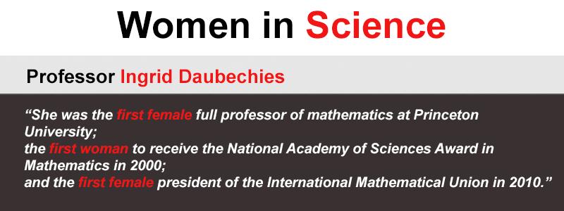Public Lecture – Professor Ingrid Daubechies