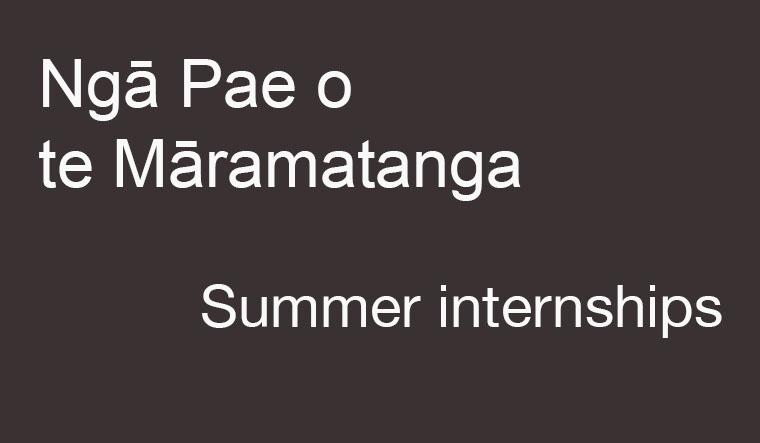 Ngā Pae o te Māramatanga summer internship