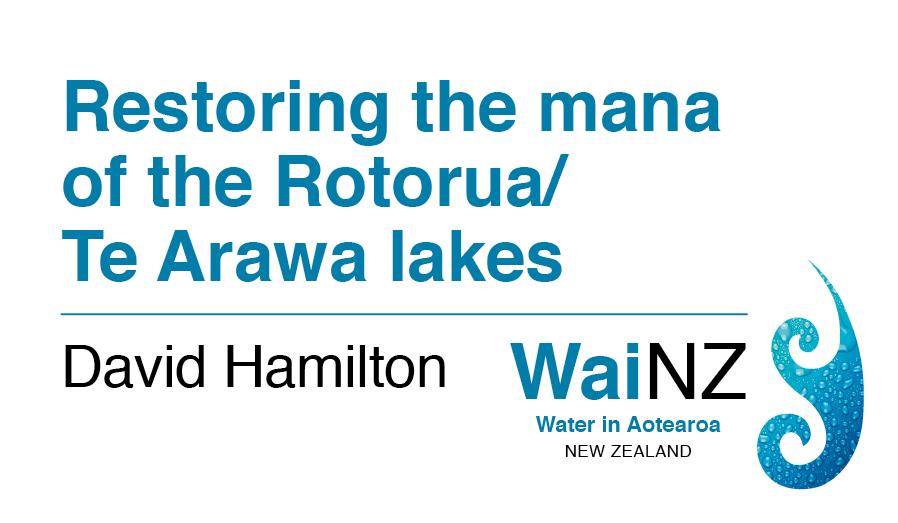 Restoring the mana of the Rotorua/Te Arawa lakes