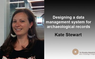 Designing a data management system for archaeological records
