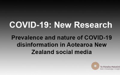 COVID-19 disinformation in Aotearoa New Zealand social media
