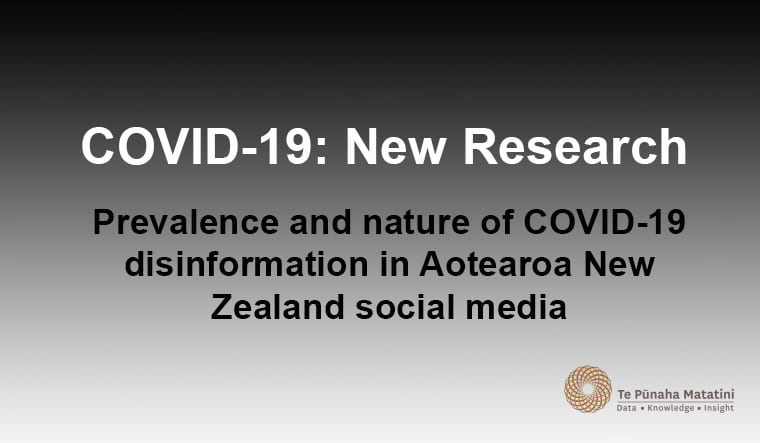 COVID-19 disinformation in Aotearoa New Zealand social media