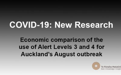 Economic comparison of the use of Alert Levels 3 and 4 for Auckland's August outbreak