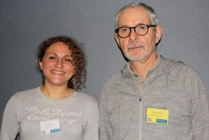 UCNC_2015_Invited_speaker_Barbara_Bravi_and_chair_of_the_session,_Cris_Calude