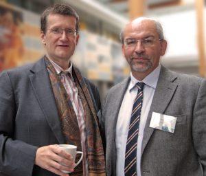 UCNC_Invited_speaker_Yaroslav_Sergeyev_and_chair_for_the_session,_Rudolf_Freund