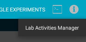 Lab Activity manager menu.