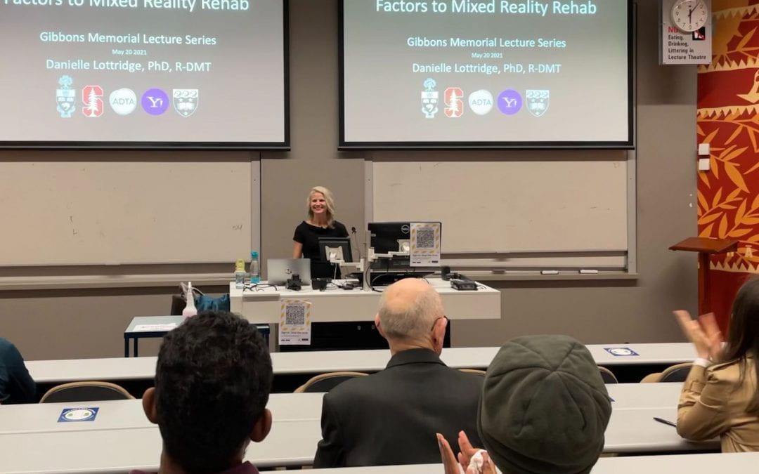 Danielle Lottridge presents a lecture