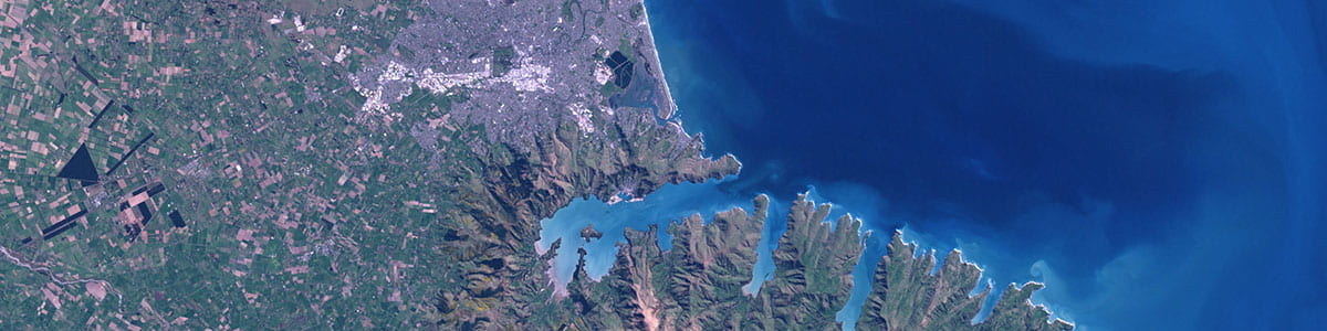 Christchurch from space. Credit: NASA.