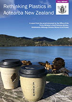 Cover of the Rethinking Plastics report