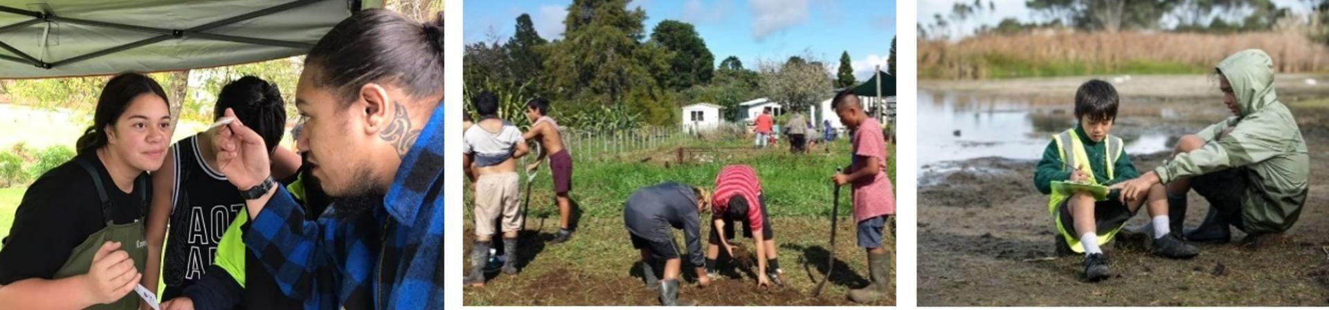 Enviroschools students at Te Noho Taiao o Te Hiku