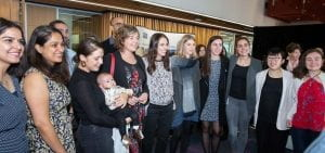 PM Jacinda Ardern and new PMCSA Juliet Gerrard in a group shot