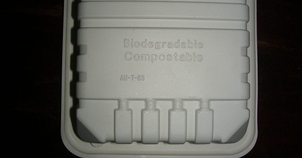 Bioplastic meat tray