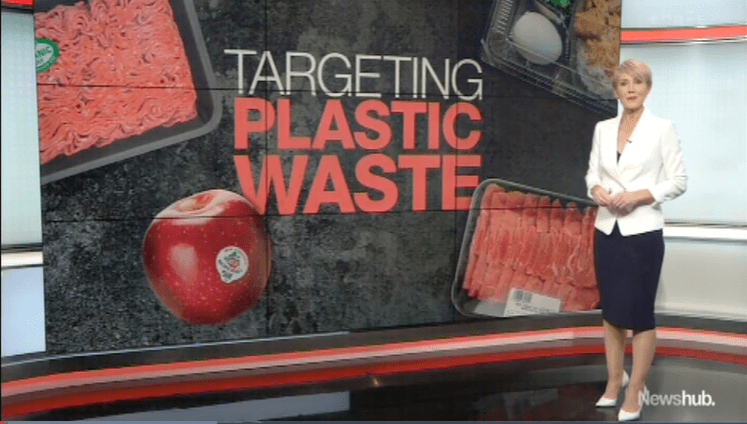 Plastic waste on Newshub