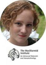 Headshot of Cherie with the MacDiarmid logo