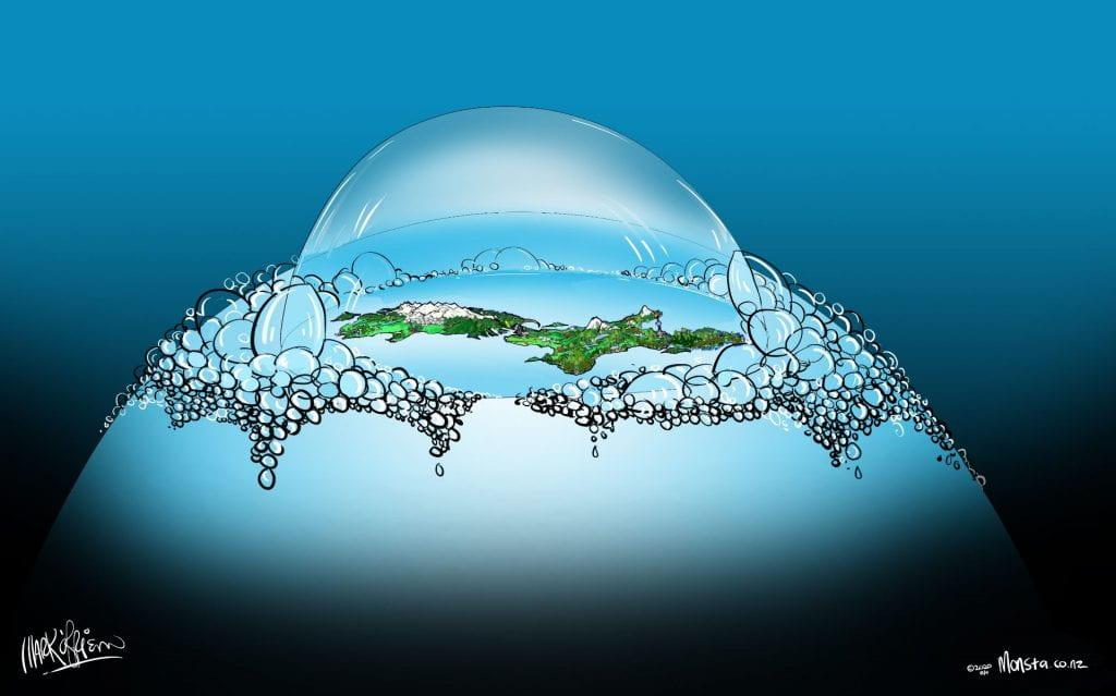 NZ bubble cartoon by Mark O'Brien