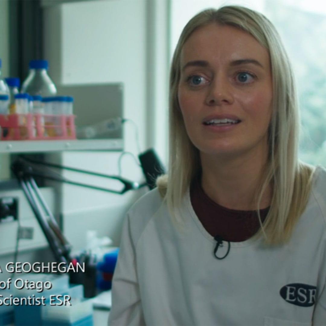 ESR scientist Dr Jemma Geoghegan