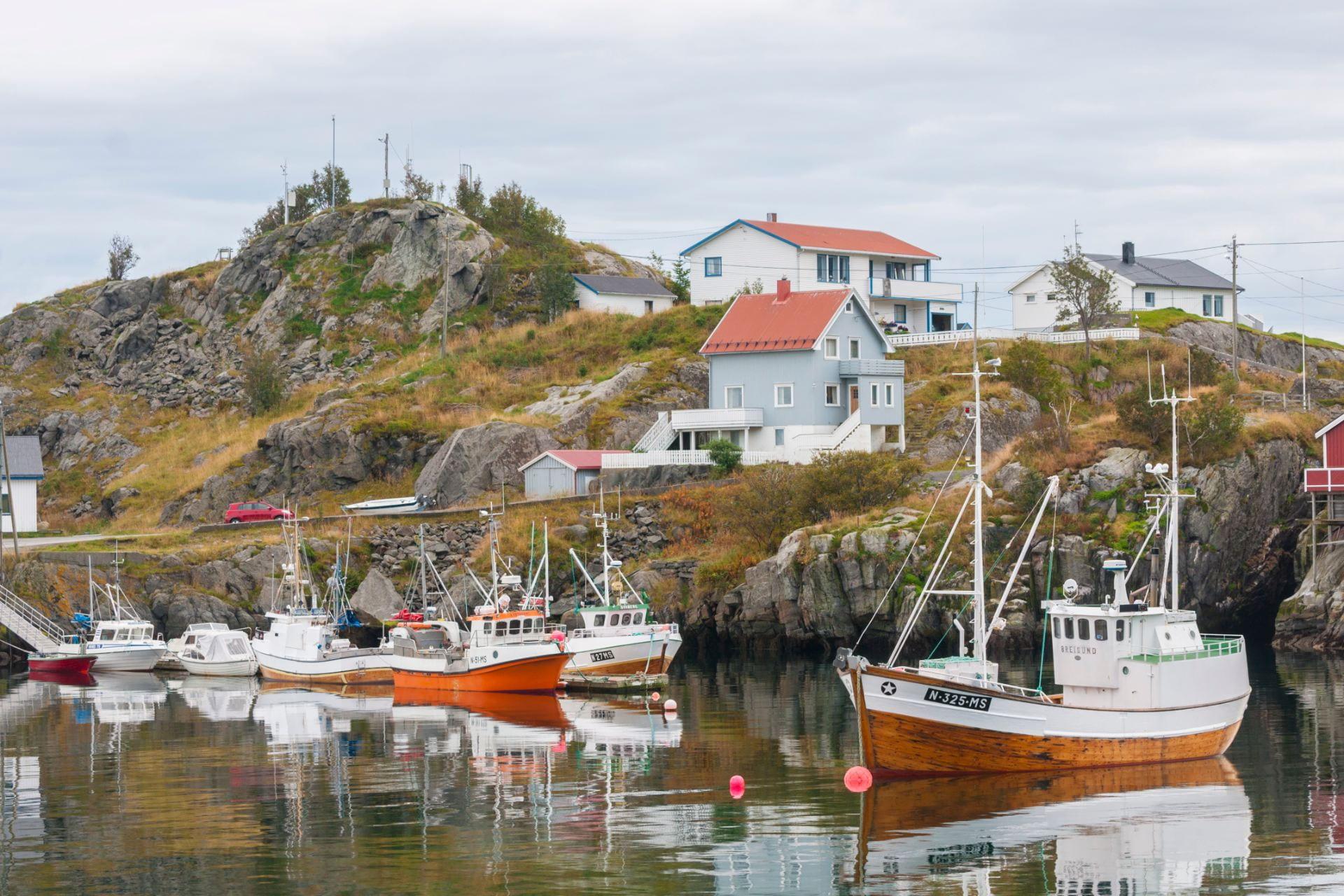 Fishing vessels in Noway