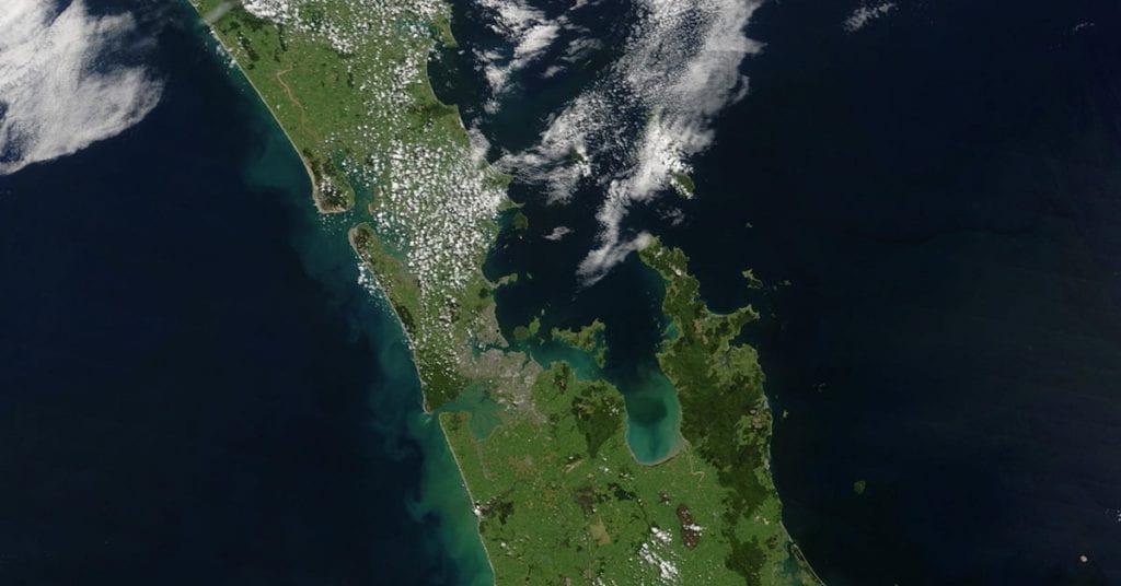 Hauraki Gulf from space