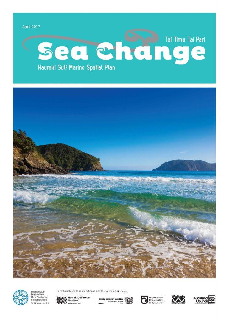 Cover of the Sea Change Tai Timu Tai Pari spatial plan