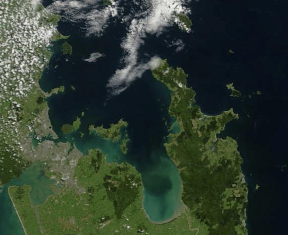 Hauraki Gulf as seen from space