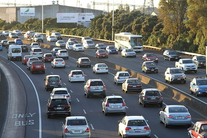 Cars on an Auckland motorway