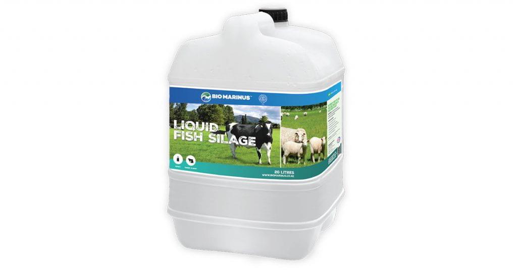 A big white container of liquid fish fertiliser