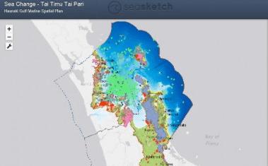 SeaSketch map of the Hauraki Gulf