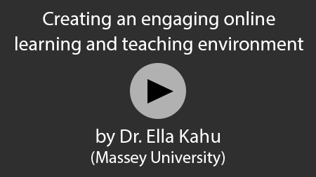 Creating an engaging online learning and teaching environment - video