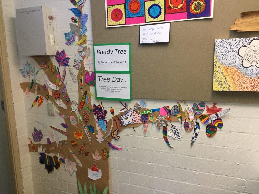 Tree Day Art with Buddies