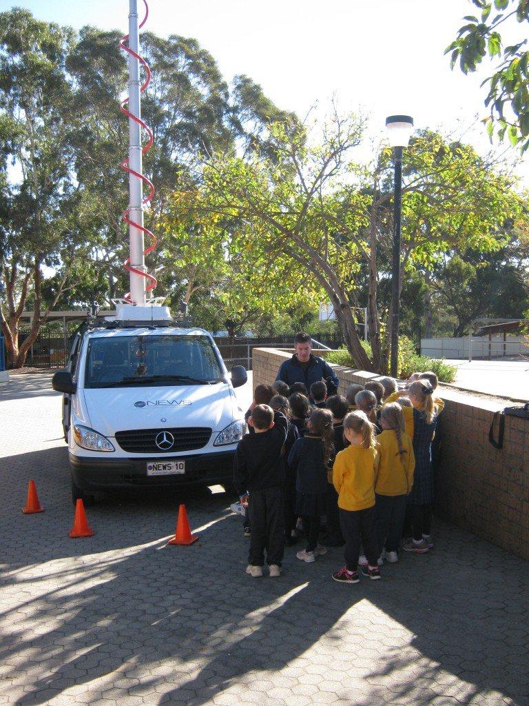 Channel 10 News Van | Ms Tammy's Class