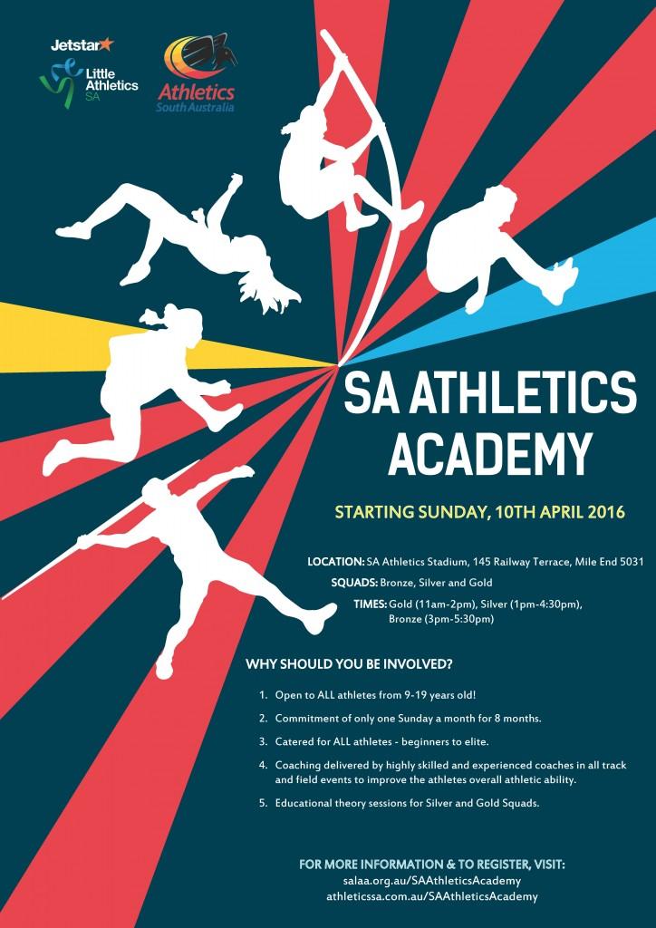 Athletics Academy Flyer A4
