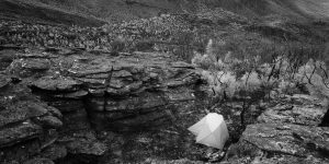 Photo of a tent on top of Mt Frederick, Grampians NP.