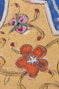 Close up photo of an illuminated manuscript
