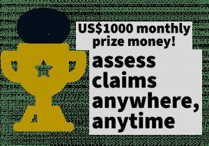 US$1000 in prize money