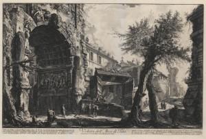 View of the arch of Titus (Veduta dell'Arco di Tito)