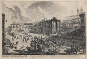 View of the Piazza di Spagna (Veduta di Piazza di Spagna)